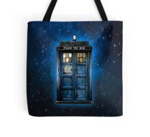 Space And Time traveller Box With yellow stained glass Tote Bag