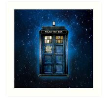 Space And Time traveller Box With yellow stained glass Art Print