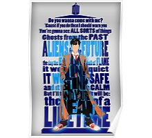 An Angel with all star red converse Shoes typograph Poster