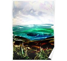 Ironed landscape Poster