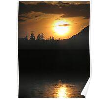 River Sunset - Peace River, Alberta Poster