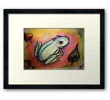 Portrait of a Frog Framed Print