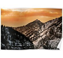 American Fork Canyon Sunset Poster