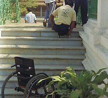Climbing stairs the hard way by RobAllsop