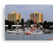 Hotels and Harbor  Canvas Print
