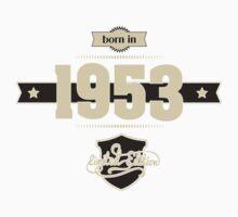 Born in 1953 (Cream&Choco) Kids Tee