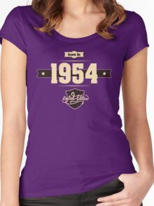 Born in 1954 (Cream&Choco) Women's Fitted Scoop T-Shirt