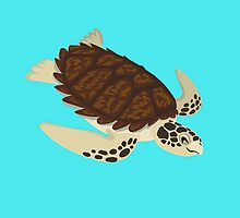 Happy Hawksbill Sea Turtle by PepomintNarwhal