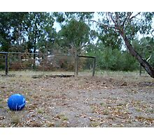 Little Blue Ball Photographic Print
