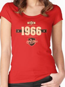 Born in 1966 (Cream&Choco) Women's Fitted Scoop T-Shirt