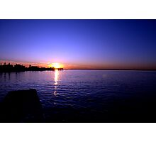 Sunset at Baypoint, New Jersey Photographic Print