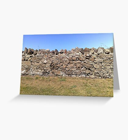 Earth. Wall. Sky. Greeting Card