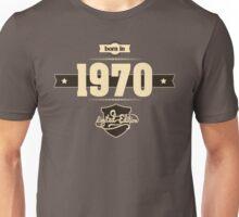 Born in 1970 (Cream&Choco) Unisex T-Shirt