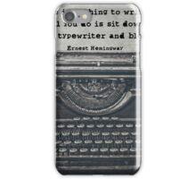 Writing According to Hemingway iPhone Case/Skin