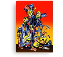 Phone booth Builder Canvas Print