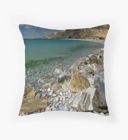 A Calm Rapid Bay Throw Pillow
