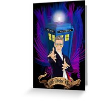 Time and Space Traveller with Rainbow Ray Ban Glasses Greeting Card