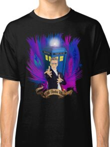 Time and Space Traveller with Rainbow Ray Ban Glasses Classic T-Shirt