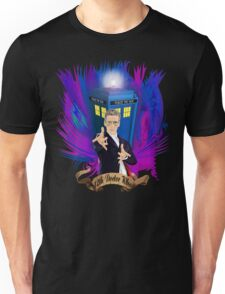 Time and Space Traveller with Rainbow Ray Ban Glasses Unisex T-Shirt
