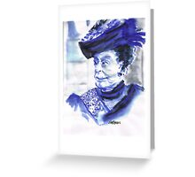 Lady Violet the Dowager Greeting Card