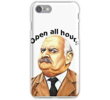 Open all hours t-shirt iPhone Case/Skin