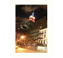 The Empire State in the Red White and Blue (NYC) Art Print