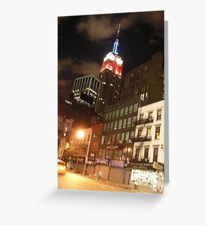 The Empire State in the Red White and Blue (NYC) Greeting Card