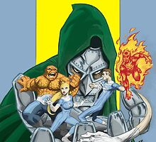 The Fantastic Four in the hands of Doom! by SirG