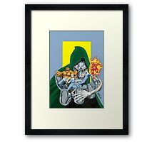 The Fantastic Four in the hands of Doom! Framed Print