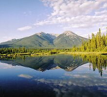 Vermillion Lake Reflections by stuart powell