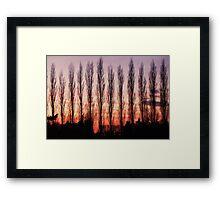 Winter Evening Sky Framed Print