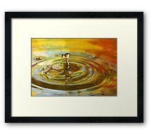 Droplet #10 Framed Print