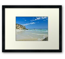 Follow the shoreline, Lowlands Beach Framed Print