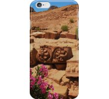 Carvings And Flowers At Petra iPhone Case/Skin