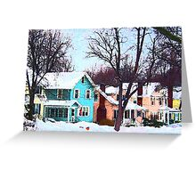 Street After Snow Greeting Card