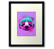 80's sloth Framed Print
