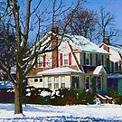 House Down the Street in Winter by Susan Savad
