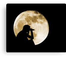 The Moon is full tonight Canvas Print