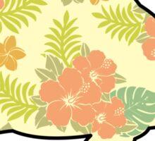 Tortoise - Tropical Hibiscus Pattern Sticker