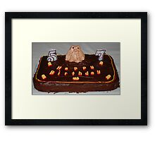 Husbands Groundhog Birthday Cake Framed Print