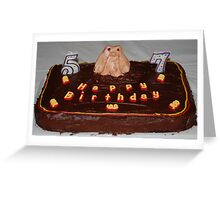 Husbands Groundhog Birthday Cake Greeting Card