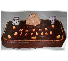 Husbands Groundhog Birthday Cake Poster