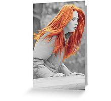Karen With Hair Like Fire Greeting Card