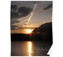 Dunvegan Sunset - Peace River Alberta Poster