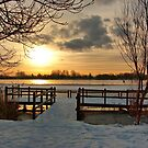 Wintermorning near the lake by steppeland