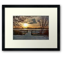 Wintermorning near the lake Framed Print