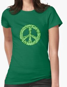 Green peace sign world languages  T-Shirt