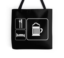 Food Sleep Beer Tote Bag