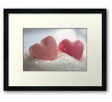 Sugarhearts Framed Print