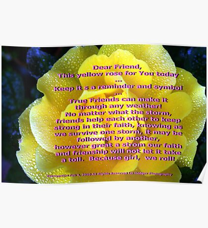 Yellow is for friendship; All Rights Reserved Lei Hedger Photography Poster